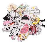EKKONG Aufkleber, 46 Stück Dekorative Aufkleber, Wasserdicht Vinyl Stickers Decals für Auto Motorräd Fahrrad Skateboard Snowboard Gepäck Laptop MacBook Pad (46pcs)