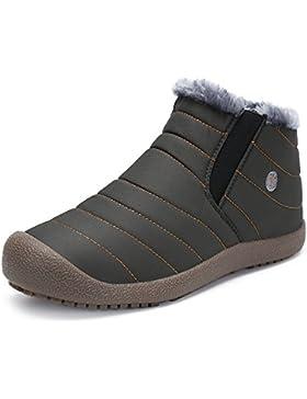 [Sponsorizzato]SAGUARO® Uomo Donna Stivali Invernali Outdoor Impermeabile Caldo Scarpe Piatto Caviglia Stivaletti Botas