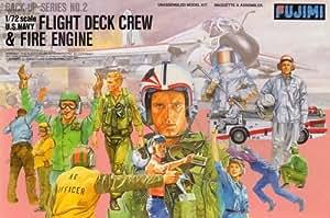 Fujimi 1/72 Modern US Navy Flight Deck Crew and Fire Engine