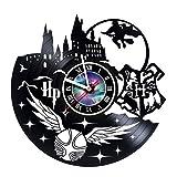 KravchArt HARRY POTTER - Reloj de pared de vinilo, diseño de abanico - Obtén decoración de pared para salón única - ideas de regalo para amigos, adolescentes, hombres y mujeres, niñas y niños