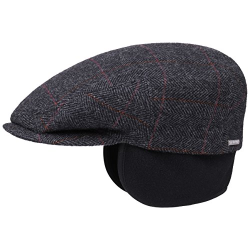 Stetson Kent Wool Ivy Cap with Earflaps Homme - Made in The EU Casquettes Casquette Gavroche pour l'hiver avec Visiere, Oreillettes, Doublure Automne-