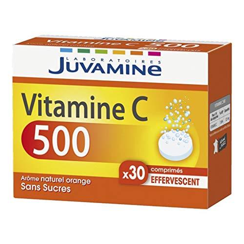 JUVAMINE Vitamin C 500 Aroma Natürliches Orangen Ohne Sugars (Lot von 2) 1 -