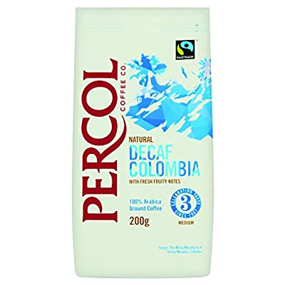 PERCOL Fairtrade Decaf Colombia Ground Coffee 200g by PERCOL