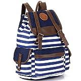 Canvas Backpack Rucksack Unisex Satchel School Bag