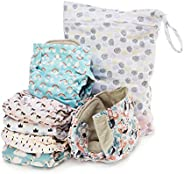 Simple Being Reusable Cloth Diapers, Double Gusset, One Size Adjustable, Washable Soft Absorbent, Waterproof C