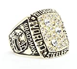 Ueice Pittsburgh Steelers Meisterschaft Ringe Für Männer Rostfreier Stahl,1978 Gold,Größe 62 (19.7)