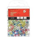 5 Star 925052 - Caja de 100 push pins translúcidos, colores surtidos