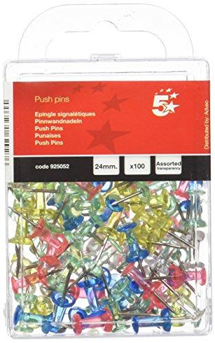 Ulable Push pins 700/count multicolore testa rotonda con punto di acciaio mappa bandiera Push puntine Clear pollice puntine Map Tacks