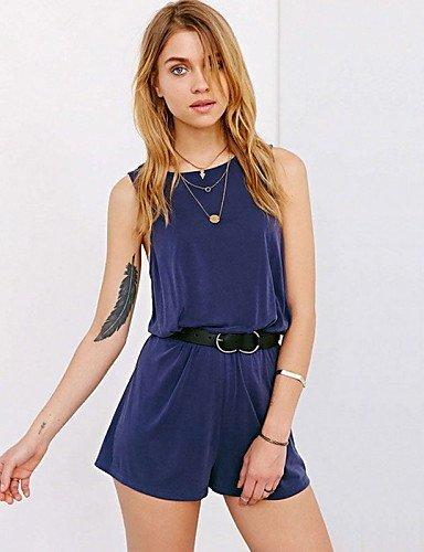 GSP-Combinaisons Aux femmes Sans Manches Sexy Mousseline de soie Moyen Micro-élastique dark blue-xl
