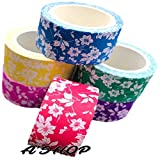 #4: A'SHOP Colorful & Attractive Adhesive Decorative Paper Tapes with FLORAL prints for Decorative Purposes like Art and Crafts, Gifts Wrapping (20MM x 5MTR) Printed Paper Tapes for School Kids, Children, Boys Or Girls(Set of 6 Tapes)