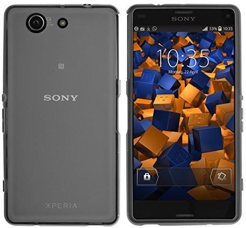 mumbi Schutzhülle Sony Xperia Z3 Compact Hülle transparent schwarz
