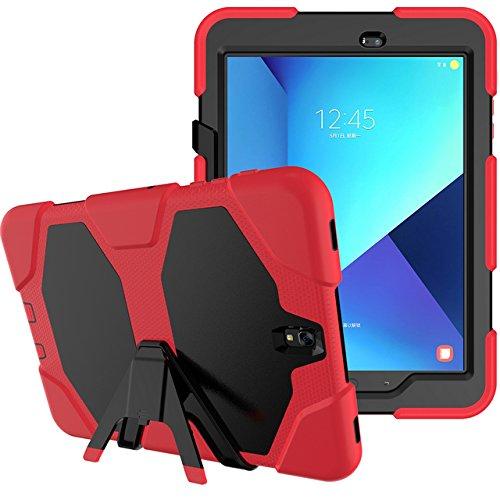 3in1 Outdoor Schutzhülle für Samsung Galaxy Tab S3 9.7 Zoll (SM-T820 / SM-T825) stoßfestes Hardcase und Silikonrahmen Tablet Hybrid