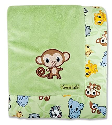 Trend Lab Blanket with Embroidery, Chibi
