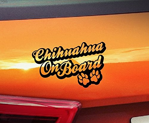 ?Hunde On Board, Welpen, Tiere, hochwertiger Kleber Pfoten golden Window Vinyl Aufkleber Aufkleber Hund ()
