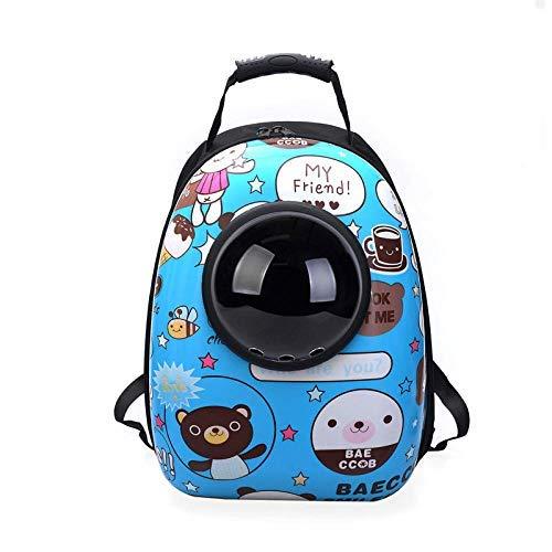 Reisetasche Tragetasche Katze Hund Rucksack, Puppy Pet Carrier Front Bag mit atmungsaktivem Head Out Design und Double Mesh gepolsterte Schulter für Outdoor L sicher Komfort -