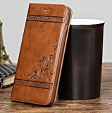 KolorFish Designer Leather Business Series Leather Flip Wallet Case Cover for Apple iPhone 7/ iPhone 8 (Brown)