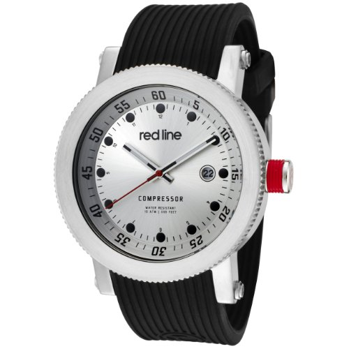 Red Line RL-18000-01 – Watch Men – Quartz – Analogue Black Rubber Strap