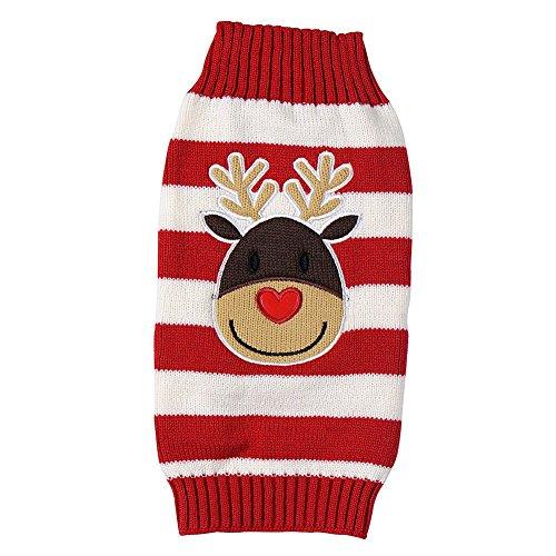 Tenchif Hunde Weihnachtsstrickjacke Winter Kleidungs Pullover Mantel Kleid