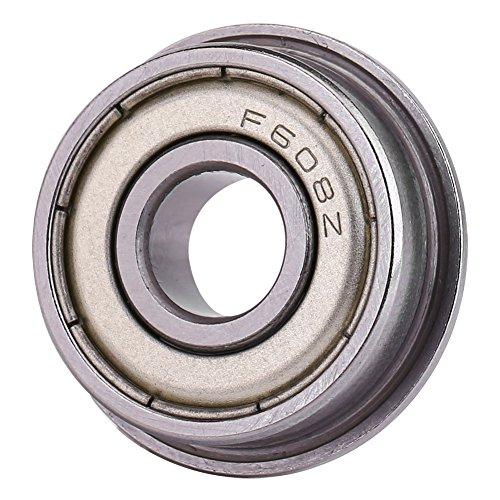 10 Stücke F608ZZ Flanschlager Kugellager Metall Stahl Doppel Abgeschirmte Miniatur 8 * 22 *   7mm Metrische Flanschlager -