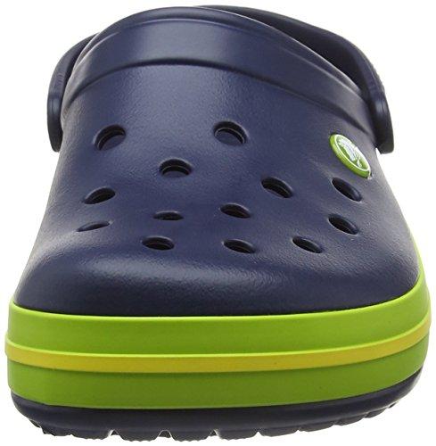 Crocs Crocband - Sabots - Mixte Adulte Bleu (Navy/Volt Green/Lemon)