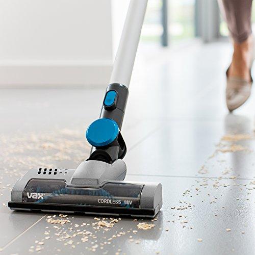 51Q6pl4YilL. SS500  - Vax Cordless SlimVac Vacuum Cleaner, 0.6 Litre, 18 V, 130 W, Silver/Blue