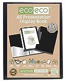 Nvey Eco Porte-vues 100 pochettes A5 50% matériaux recyclés Noir