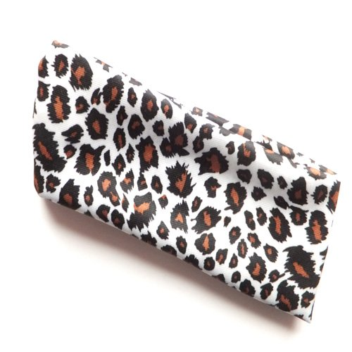 Bandeau large imprimé léopard marron et blanc in4261
