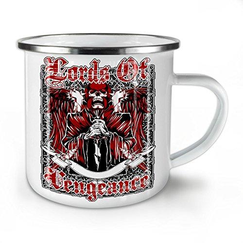 Wellcoda Lord Von Rache Schädel Emaille-Becher, Monster - 10 Unzen-Tasse - Kräftiger, griffiger Griff, Zweiseitiger Druck, Ideal für Camping und Outdoor (Rache-becher)