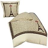 ParisChéri HC140TOPLECAE Bettbezug und Kissenhülle,