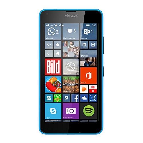 Microsoft Lumia 640 XL Dual-SIM Smartphone (5,7  pantalla  (14,5 cm) Touch-Display, 8 GB, Windows 8.1) azul (importado)