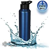 Style Homez Stainless Steel Water Bottle 1000 Ml Gym Sipper Blue Color - BPA Free, Food Grade Quality