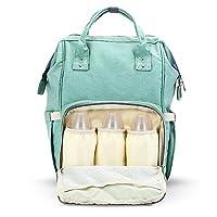 Diaper Bag Mummy Bag Baby Travel Backpack Bag Large Waterproof Bag, Green