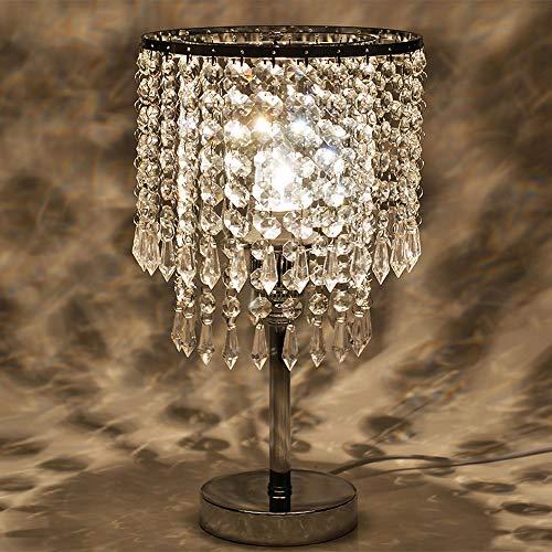 Lampada da tavolo decorativa di cristallo europeo creativo soggiorno camera da letto luce comodino personalità di moda regalo di nozze decorazione lampada da tavolo
