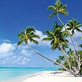 Eurographics DG-DC6011 Summer Sun und Beach I 50x50 DecoGlass, Glas, Blau, 50, 00 x 50, 00 cm