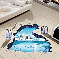 Creative 3D polar ice stick bedroom living room decorative wall stickers