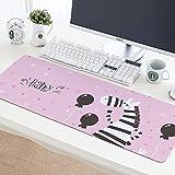 @A Office Mauspads Gaming Mauspads Super Große Mauspad Klebepad Computer Tastatur Schreibtisch Große Tischset, Zebra, 30X78