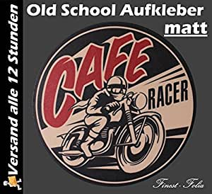 2 x Cafe racer old school stickers autocollants de style rockabilly vintage ace bobber#3