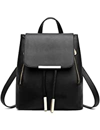 8f9907d7cdf5 Z-joyee Casual Purse Fashion School Leather Backpack Shoulder Bag Mini  Backpack For Women