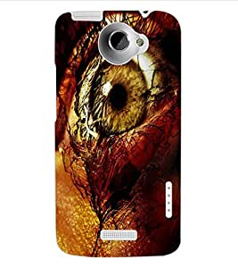 ColourCraft Amazing Eye Design Back Case Cover for HTC ONE X