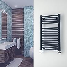 Hudson Reed - Radiador Toallero Decorativo Plano Para Baño / Cocina / Escaleras - Acero Antracita