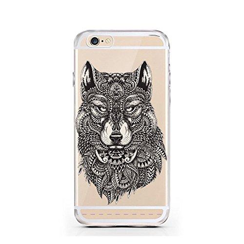 iPhone 7 Hülle von licaso® für das Apple iPhone 7 aus TPU Silikon Always Heart Herz Herzchen Love Muster ultra-dünn schützt Dein iPhone 7 & ist stylisch Schutzhülle Bumper Geschenk (Always Herz) Wolf Tattoo