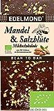 Edelmond Bio Mandel & Salz Milch-Schokolade mit gutem 54% Kakaoanteil. Passt toll zum Wein. Fair Trade Kakaobohnen und geröstete Mandel Tafel