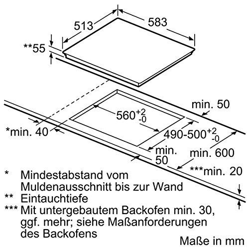 Neff T56BD60N0 Kochfeld Elektro / Induktion / 58,30 cm / Kochstelle Glaskeramik / schwarz - 7