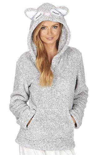 ladies-womens-top-hoodie-snuggle-fleece-animal-nightwear-lounge-forever-dreaming