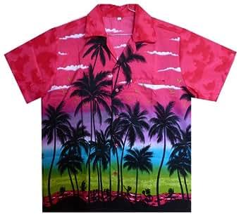 Funky Hawaiian Shirt, Beach, Pink, XS