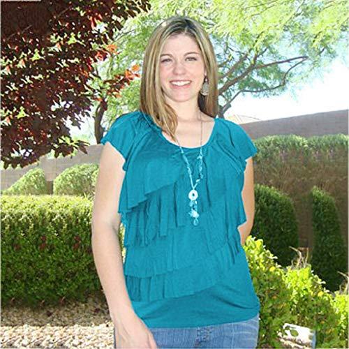 Tianya Frauen Tops, einfaches Design Pflege Wrap Kurzarm Solid Color Multi-Layer-Bluse für Mutterschaft Mutter
