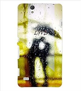 PRINTSWAG LOVER IN RAIN Designer Back Cover Case for SONY XPERIA C4 DUAL