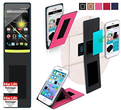 reboon Hülle für Archos 50 Diamond Tasche Cover Case Bumper | Pink | Testsieger