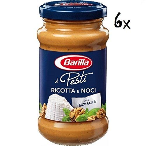 6x Barilla Pesti Ricotta e noci pesto mit Ricotta Käse und Walnussen 190 g