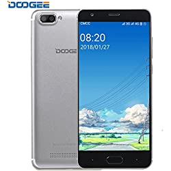 Móviles Libres Baratos, DOOGEE X20L Smartphone Libre, 5.0 Pantalla HD IPS - 4G Android 7.0 Telefonos - MT6737 4xCortex-A53, 1.25GHz - 2GB RAM+16GB ROM - 5.0MP Cámara - Batería de 2580mAh (Plata)